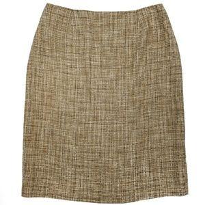 Dana Buchman 100% Silk Skirt Career Straight